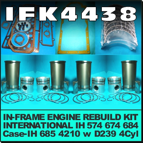 Wagga Tractor parts - IFK4438 In-Frame Engine Rebuild Kit ... on