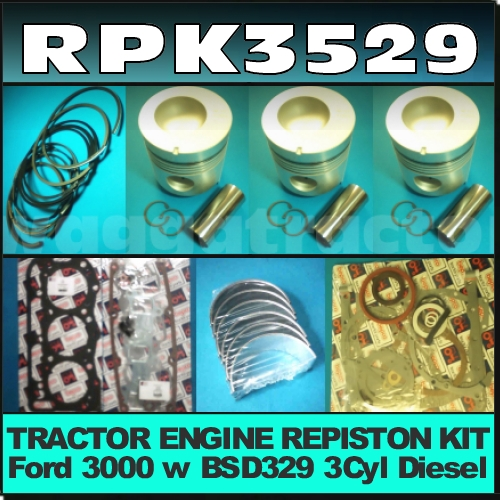 Wagga Tractor Parts Rpk3529 Rebuild Repiston Kit Ford 3000 Rhwaggatractorparts: Ford 3000 Tractor Schematics At Gmaili.net